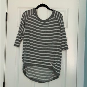 Grey and white striped Abercrombie & Fitch shirt